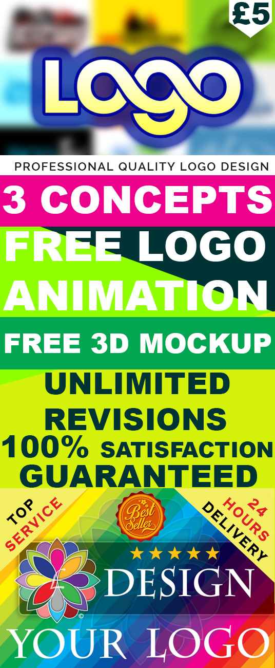 I will Design 3 Stunning Logo With FREE LOGO ANIMATION