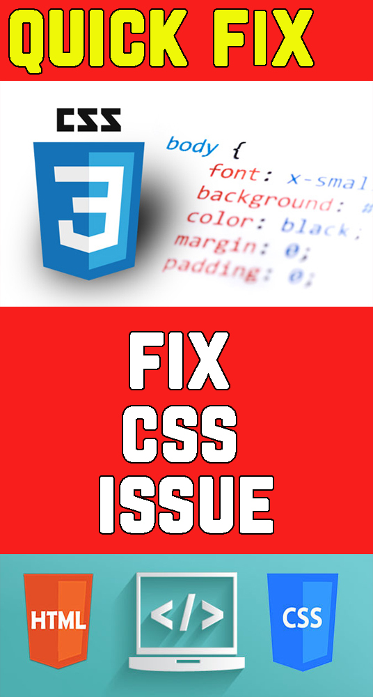 I will Fix CSS Issue