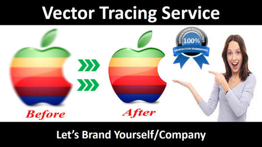 I will do vector tracing, raster to vector logo, image sketch or anything within 12 hours