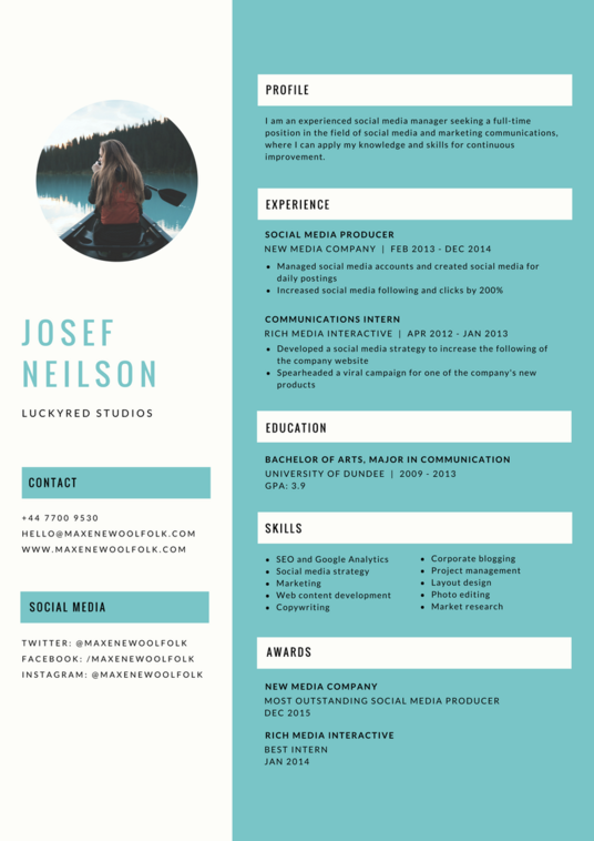 I will create and design your resume