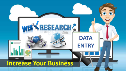 I will be your Virtual Assistant of Data entry, Excel Creation, Web research and File conversion