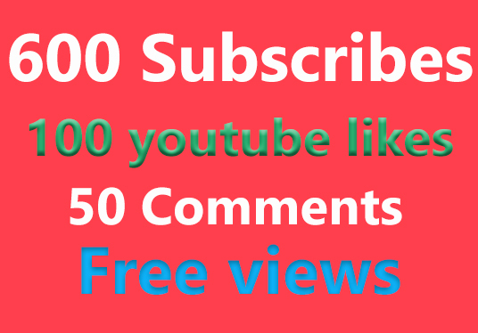 I will provide 600 real youtube subscribers