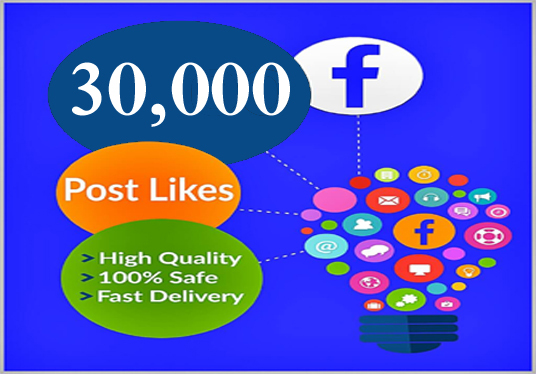 I will provide 30000 facebook post likes very first