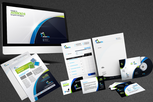 I will create complete stationery and identity branding