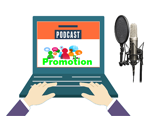 I will promote and advertise your podcast with 100+  Real Human downloads