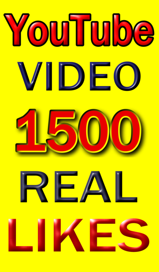 I will Add 1500+ Real Genuine Human YouTube Video Likes