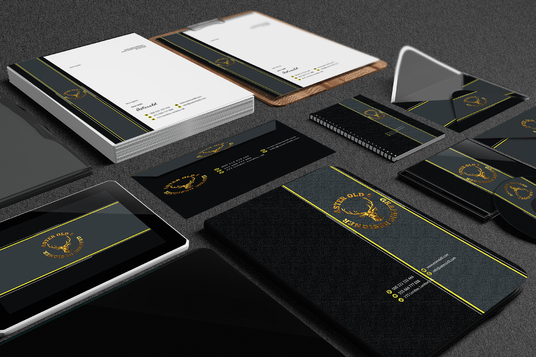 I will design complete business stationery