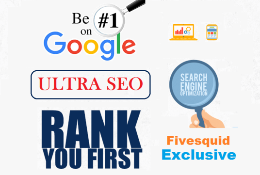 I will Boost your Google ranking with ULTRA SEO Package