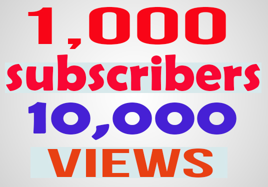 I will provide 1,000 youtube subscribers and 10,000 views
