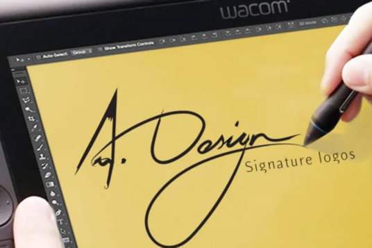 I will Make Real Handwritten Signature Logo