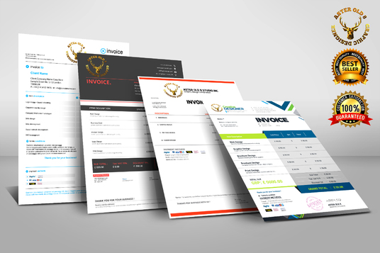 I will design professional invoice for your business