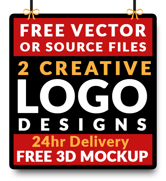 I will do 2 logo design with free source files