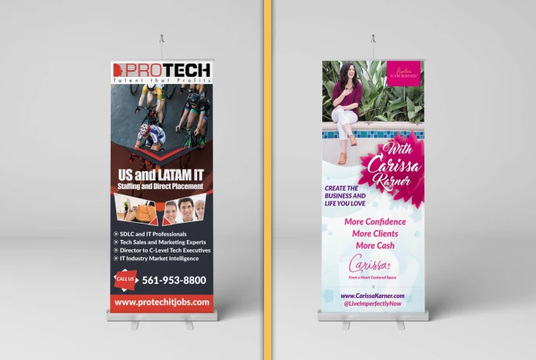 I will Design Outstanding Roll Up Banner under 24 hours