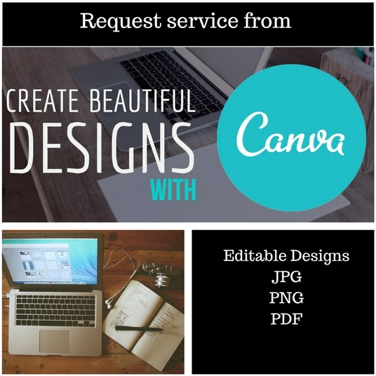 I will create any design with Canva