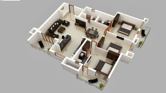 do 3d floor plan , floorplan , architectural Visualization