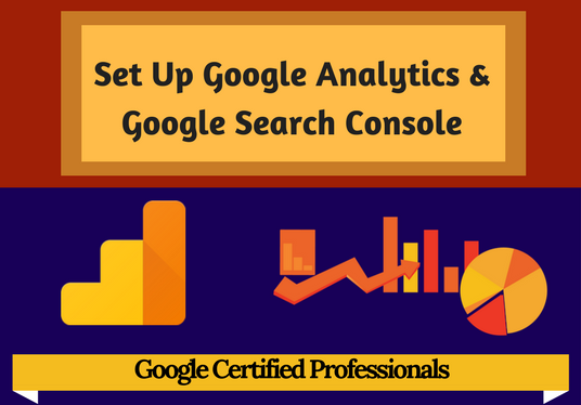 I will set up Google Analytics and Google Search Console