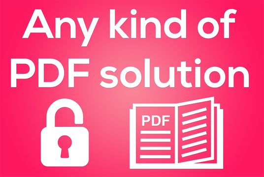 edit PDF as your requirement