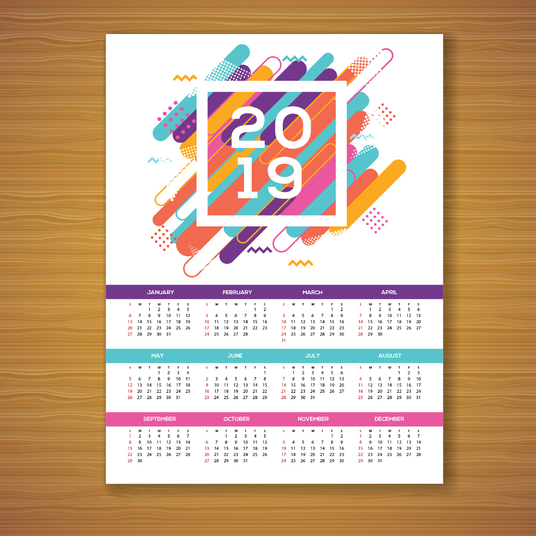 I will do single page Calendar design