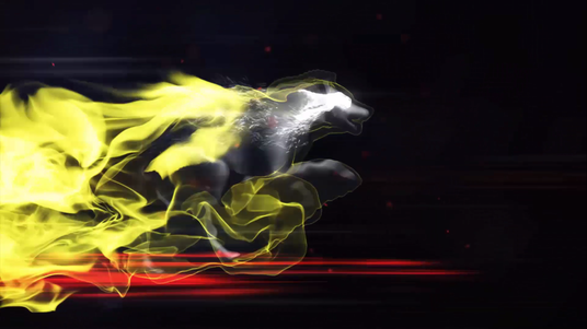 Create Fire Wolf Logo Reveal Intro Video