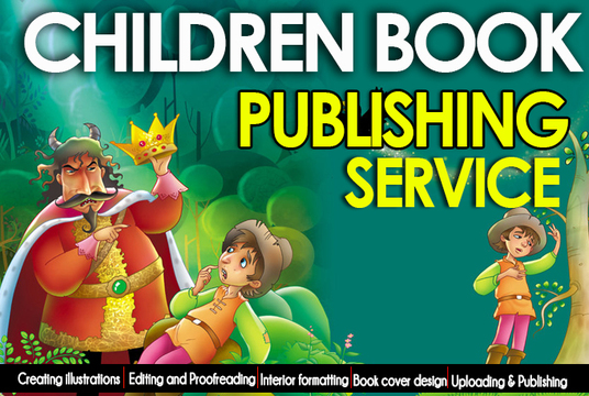 I will publish your children book with illustration on createspace, kindle and lulu
