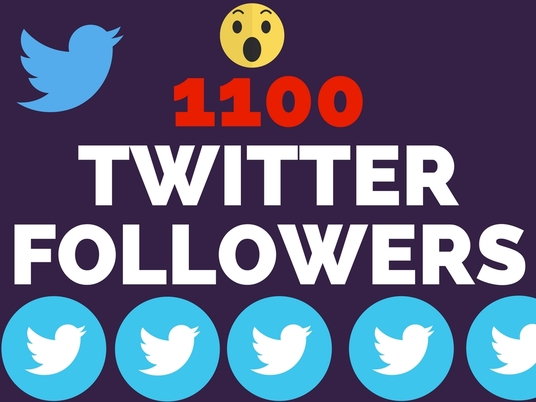 I will give 1100 Twitter Followers with fast Delivery