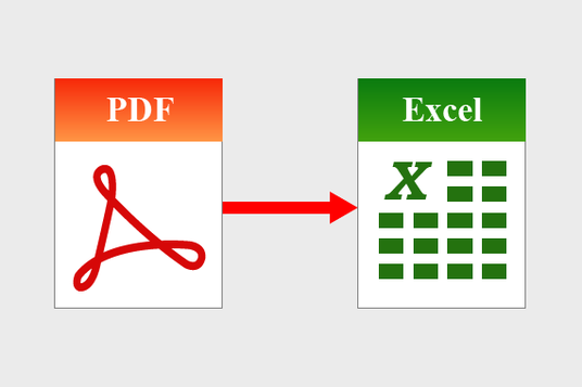 I will convert Pdf to Excel