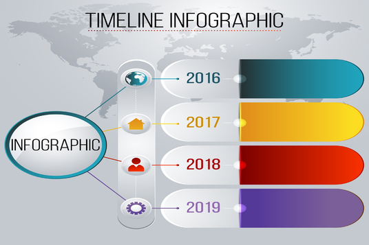 create stunning infographic with your content