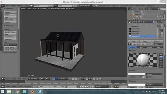 make 3D models in blender