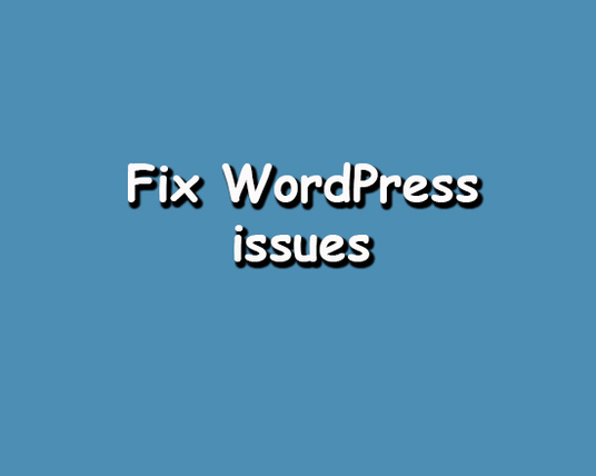 I will Fix Any WordPress Issues And Errors