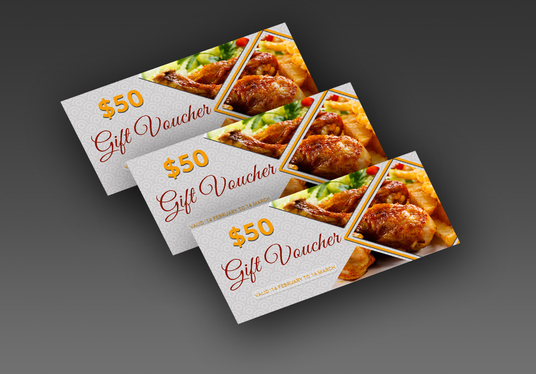I will Design Gift Vouchers, Coupons card or Gift Certificates for your Product, Service or Busin