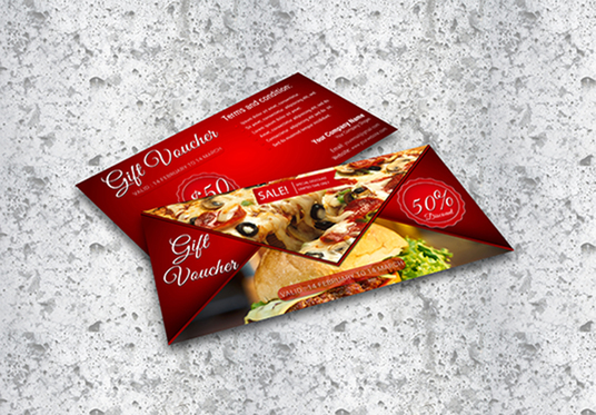 Design Gift Vouchers, Coupons card or Gift Certificates for your Product, Service or Business