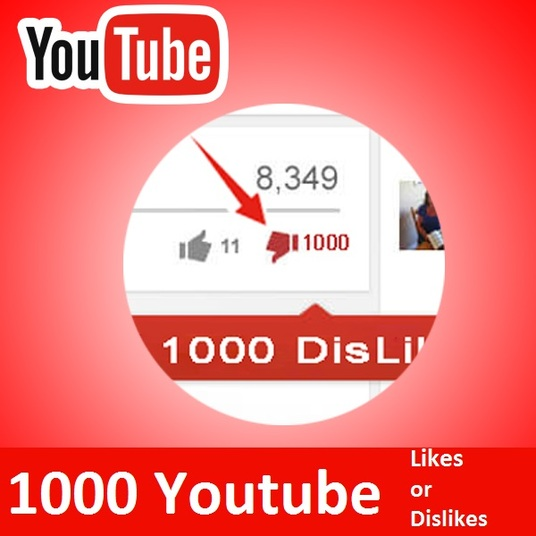 I will added 1000 Youtube Like or Dislikes  within 24H only