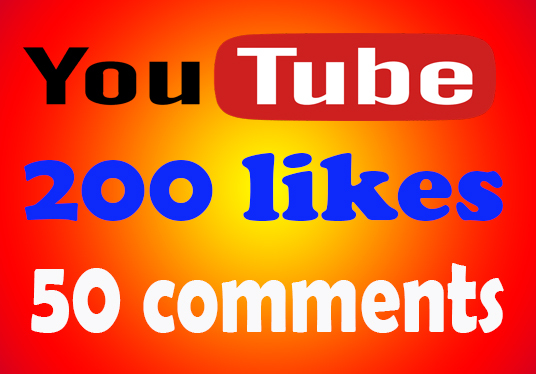 I will provide 200 youtube likes and 50 comments