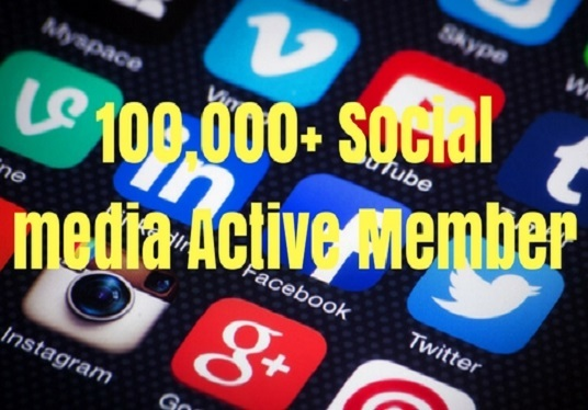 I will Do 3day  EFFECTIVE  Social Media Marketing  100,000+ Active  Users