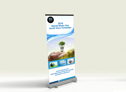 I will create professional roll up banner design for your  business promotion