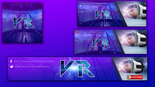 I will design youtube , facebook,twitch banner