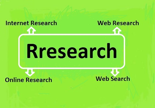 I will do Internet Research, Web Research, Online Research Job