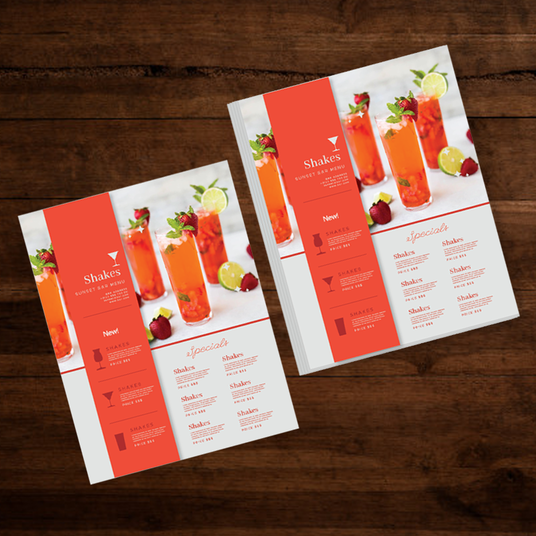 I will design menu for Restaurant / Food / Drink Centers