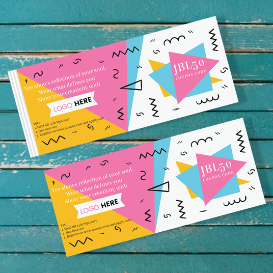 I will design gift vouchers & coupons & bookmarks