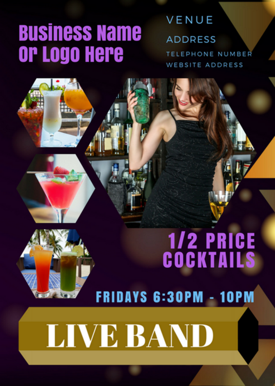 I will create a Professional A5 Food or Drink Industry Promotional Flyer  Leaflet Design Single S