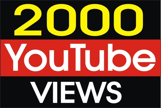 I will Give you Fast 2000 YouTube Views And 50 likes