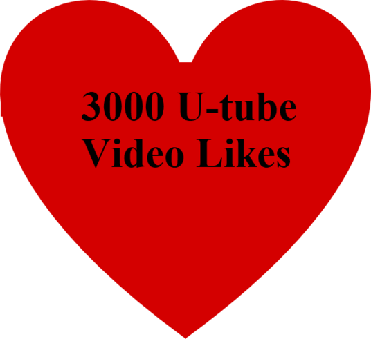 I will add 3000 video like on youtube video