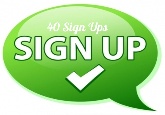 I will send  40 Sign Ups To Your Referral Or Affiliate Link