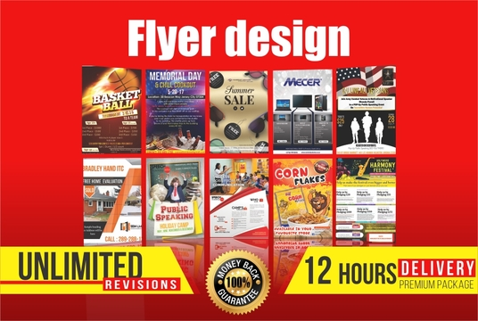 I will design a professional Print ready flyer or leaflet