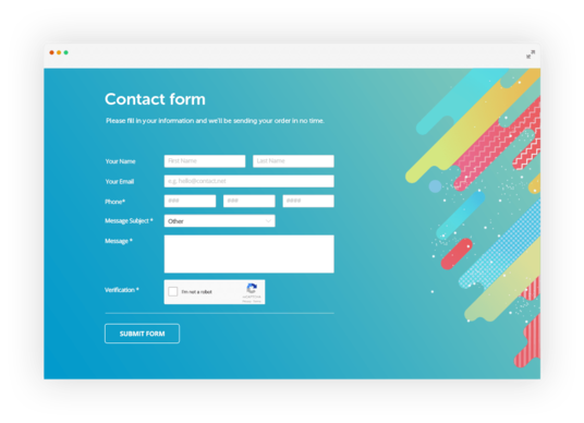 I will Create PHP Forms, Contact Form, Wordpress Forms