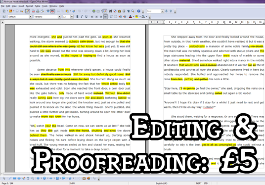 I will proofread up to 100 words