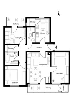 Redraw your floor plan in autocad for 5 archi fivesquid - Floor plan drawing apps ...