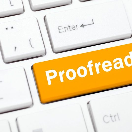I will proofread any document of up to 2000 words in length