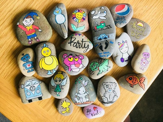 I will paint you a personalised rock/stone