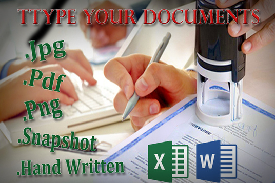 I will type up your Jpg,Png,Pdf or any other scanned documents in words 24 hours